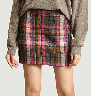 Agathe skirt with check pattern