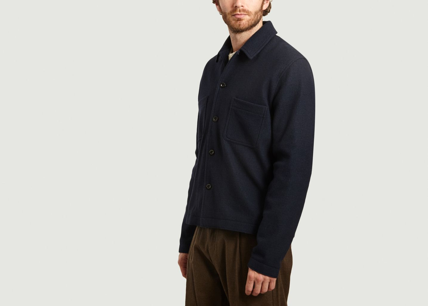 Veste boutonnée en laine Milano - Samsoe Samsoe