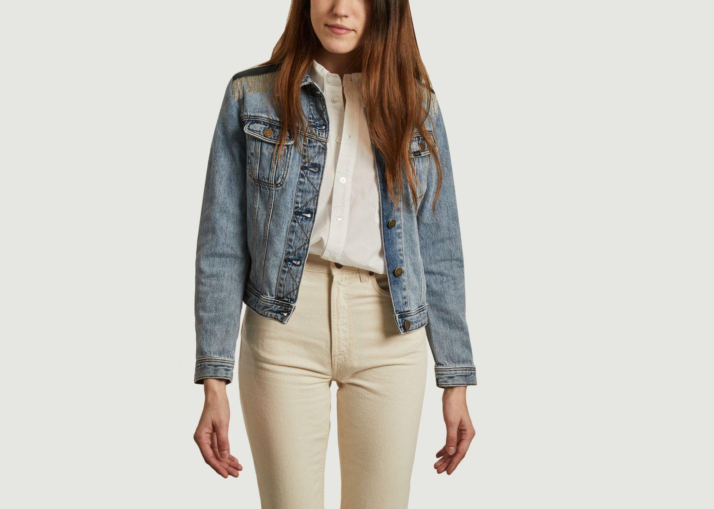 Veste en jean recyclé Romy Chains - Sarah de Saint Hubert