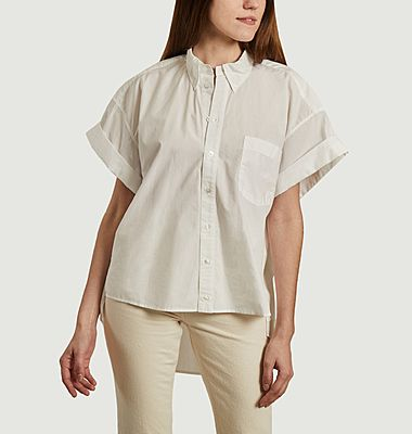 Chemise oversize manches courtes dos brodé Helena Emb
