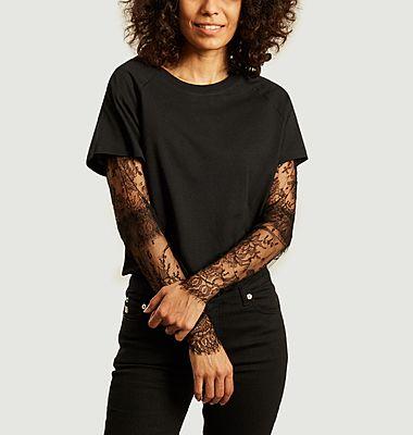 T-shirt à doubles manches avec dentelle de Calais Kurt
