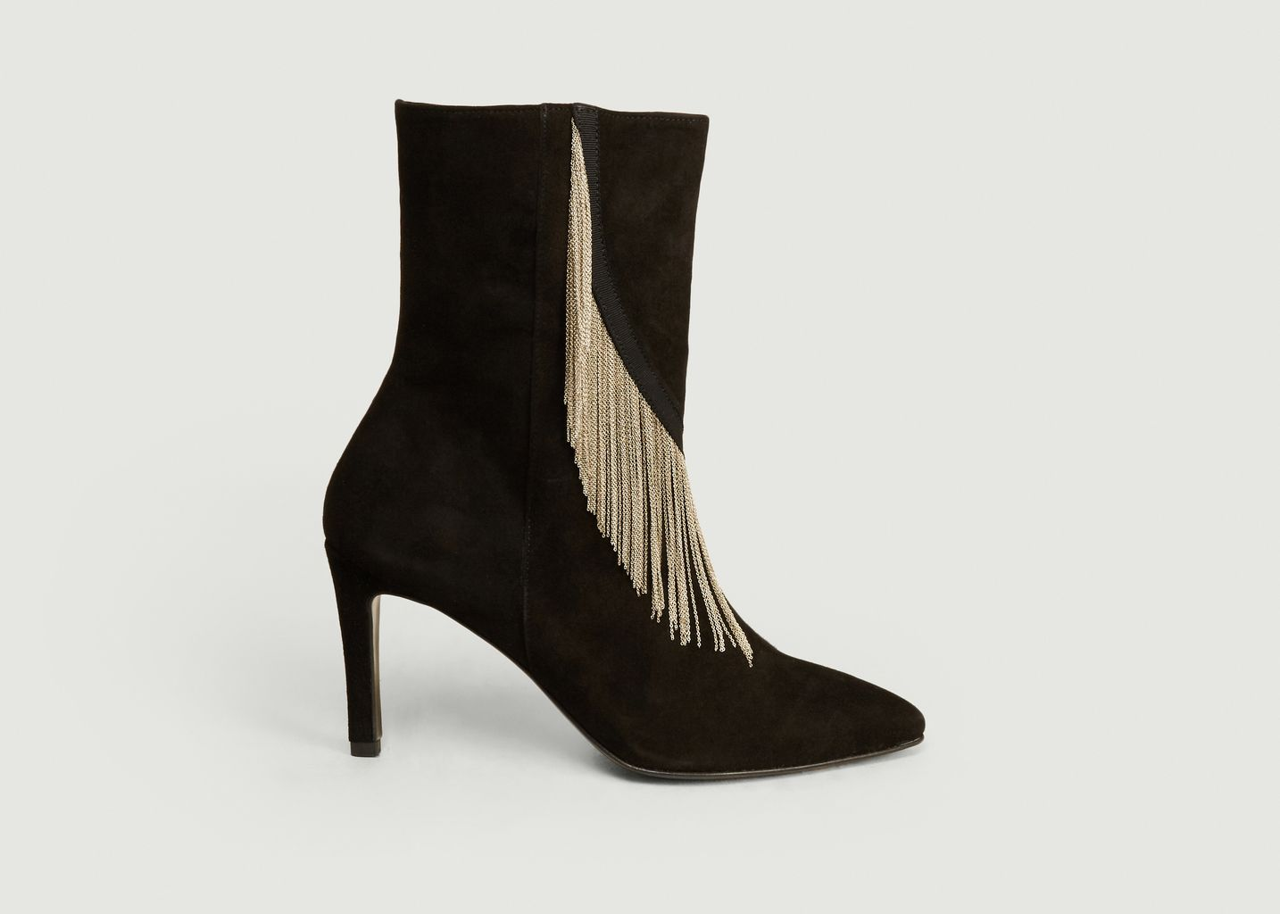 Boots en cuir suédé avec chaînes Frankie - Sarah de Saint Hubert