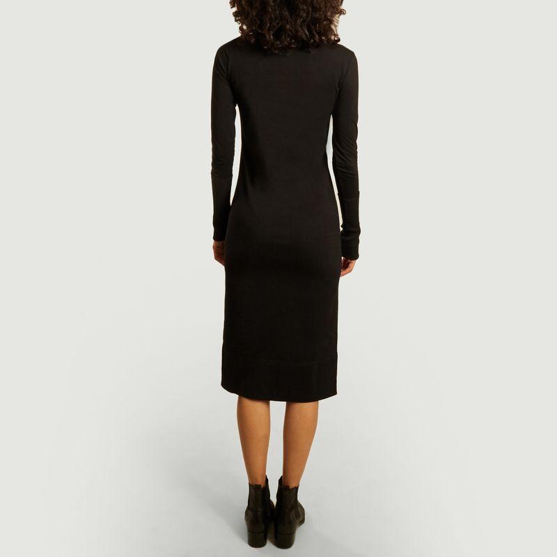 Robe mi-longue manches longues col roulé Nina - Sarah de Saint Hubert
