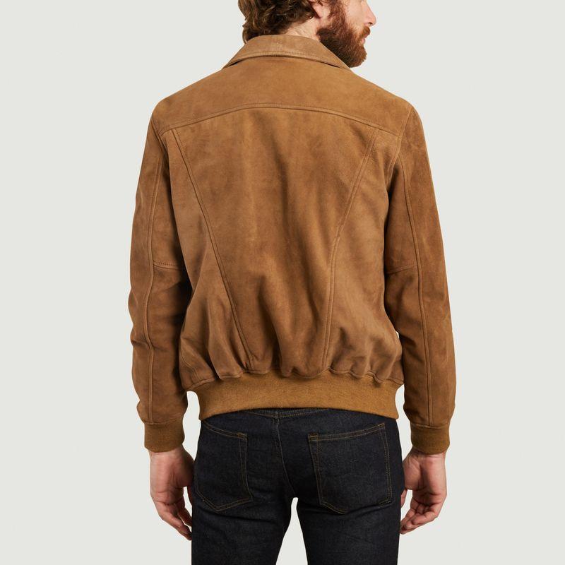 Blouson zippé en cuir velours Lcyaless - Schott NYC