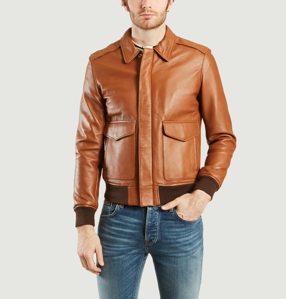 Blouson LC NYC Schott Fly Cognac L'Exception Mix pvqpUO