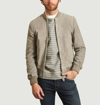 LC300 suede leather bomber jacket