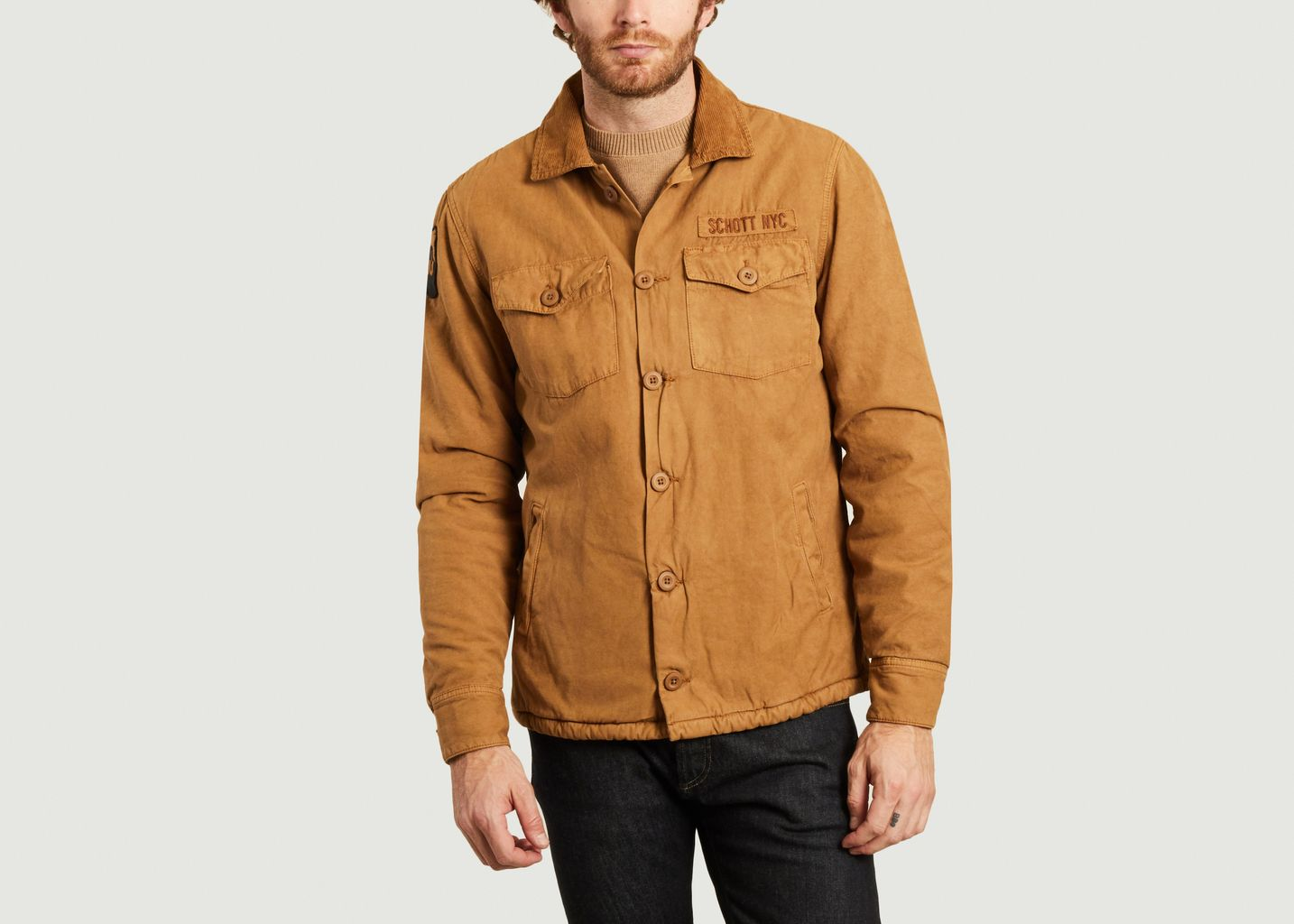 Veste en coton doublé de laine Timber2 - Schott NYC