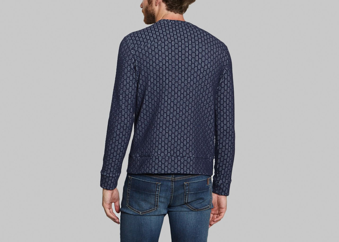 Sweat Plain Jacquard  - Sébastien Blondin