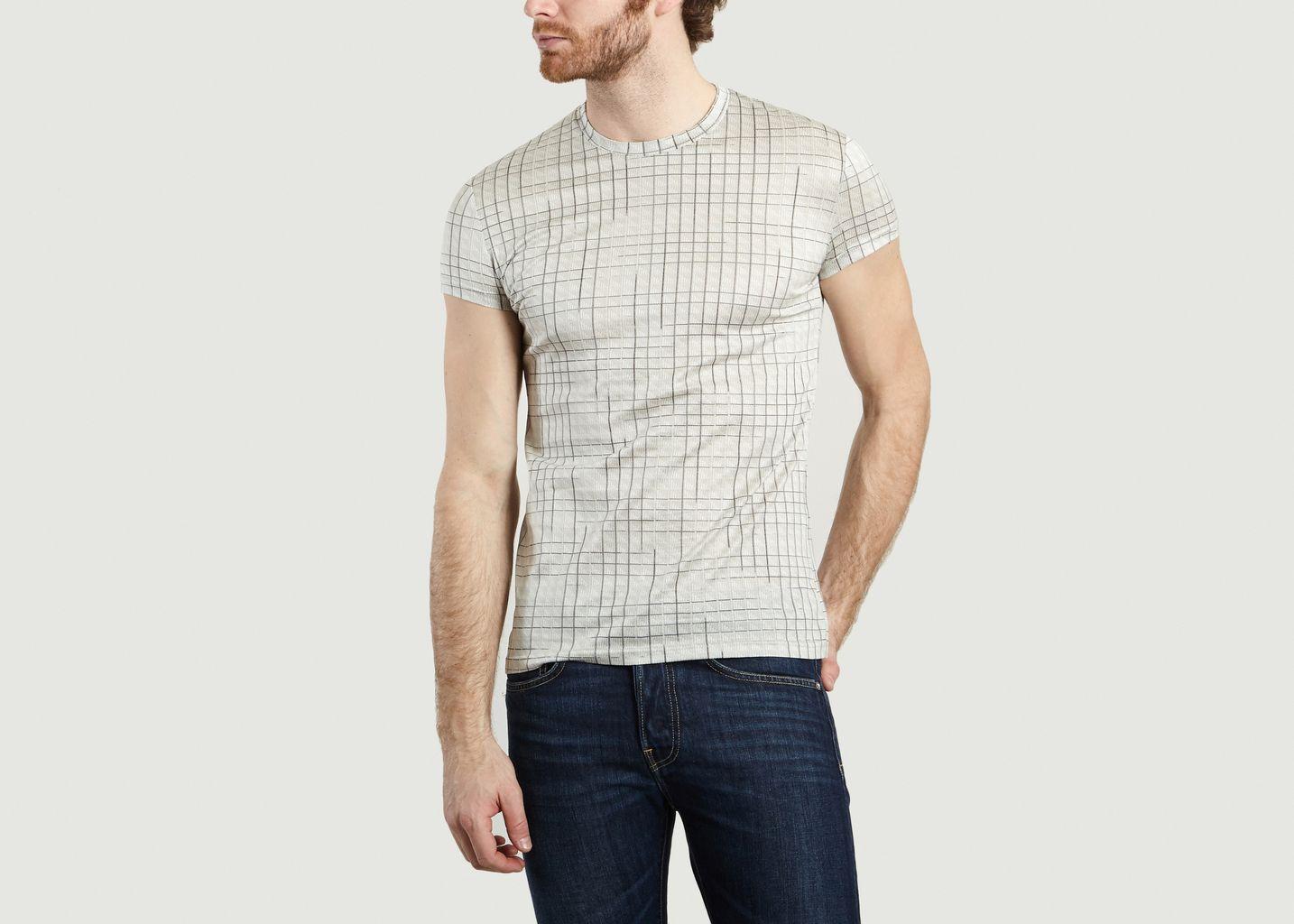 T-Shirt Basic Carreaux - Sébastien Blondin