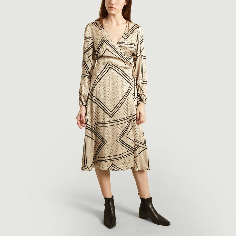 Robe Portefeuille Isa Imprimé Géométrique - Second Female