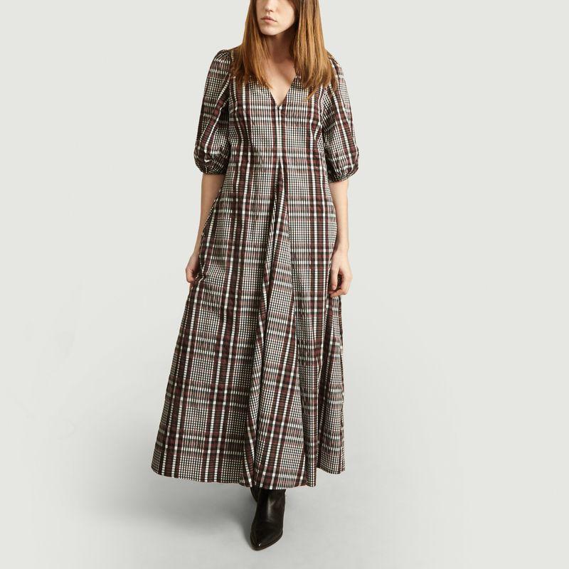 Robe longue Emily imprimé carreaux - Second Female