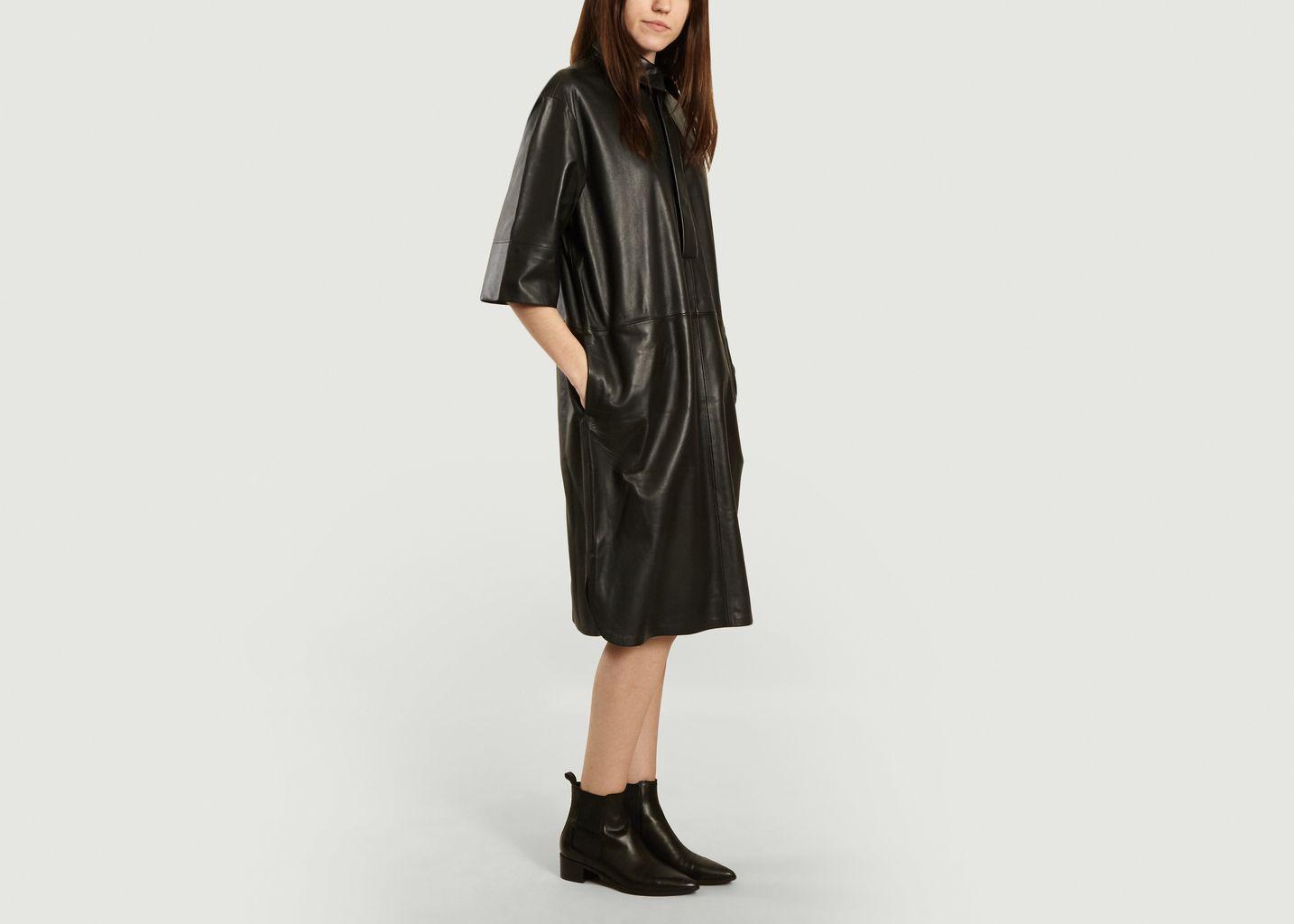 Robe midi en cuir Indie - Second Female