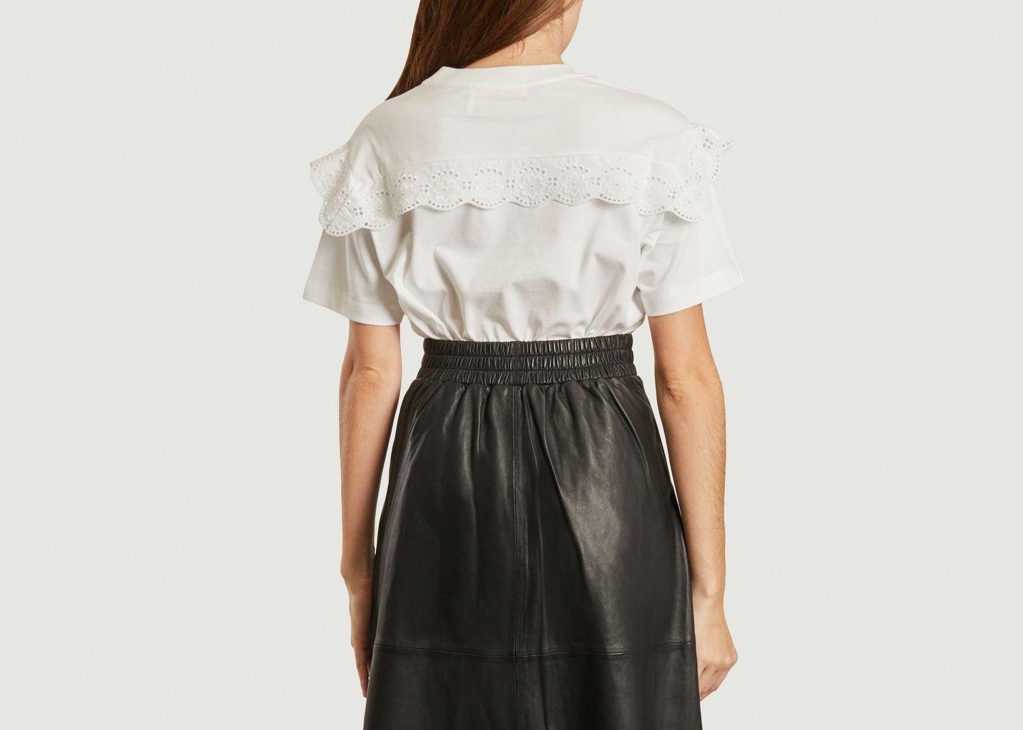 T-shirt avec empiècement dentelle - See by Chloé