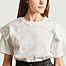 matière T-shirt avec empiècement dentelle - See by Chloé