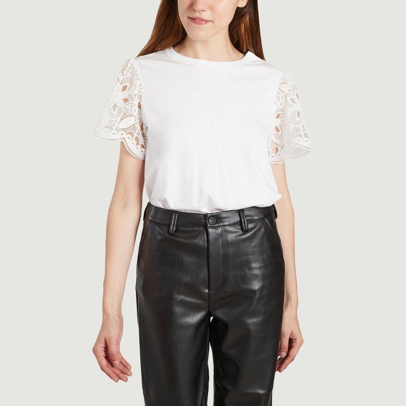 T-shirt manches dentelles - See by Chloé