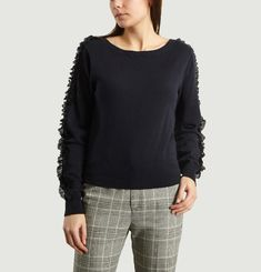 Pullover Manches Dentelle