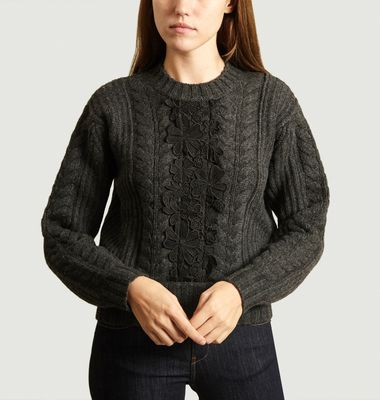Lace Cable Knit Jumper