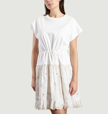 Robe T-Shirt A Broderie Anglaise