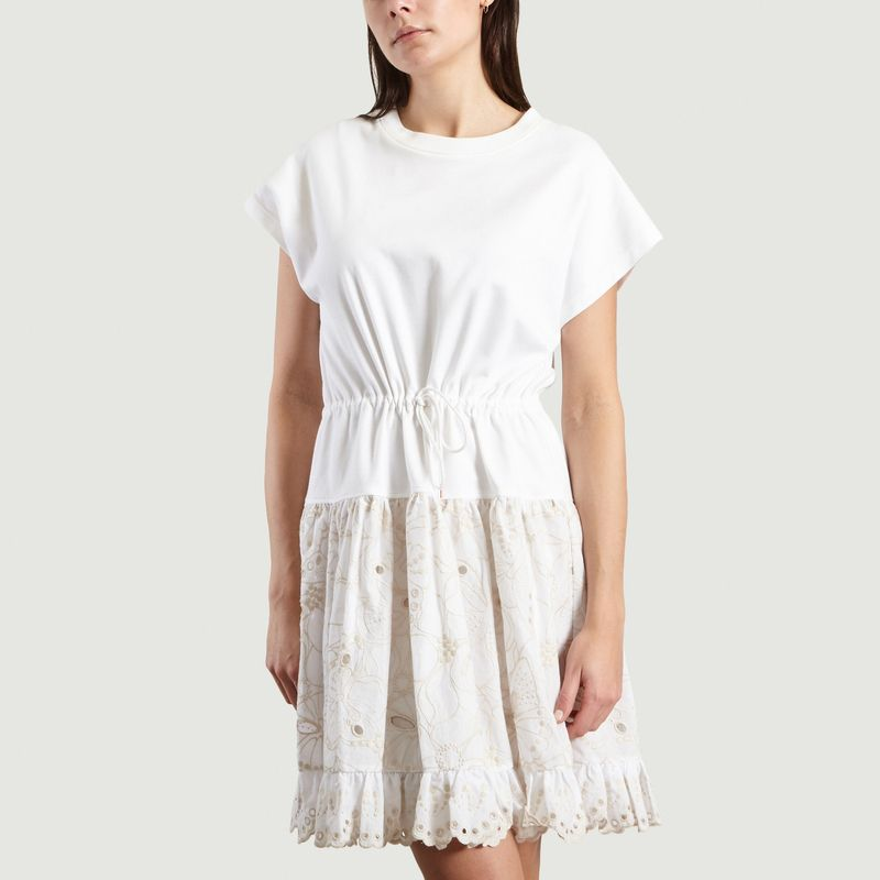 Robe T-Shirt A Broderie Anglaise - See by Chloé