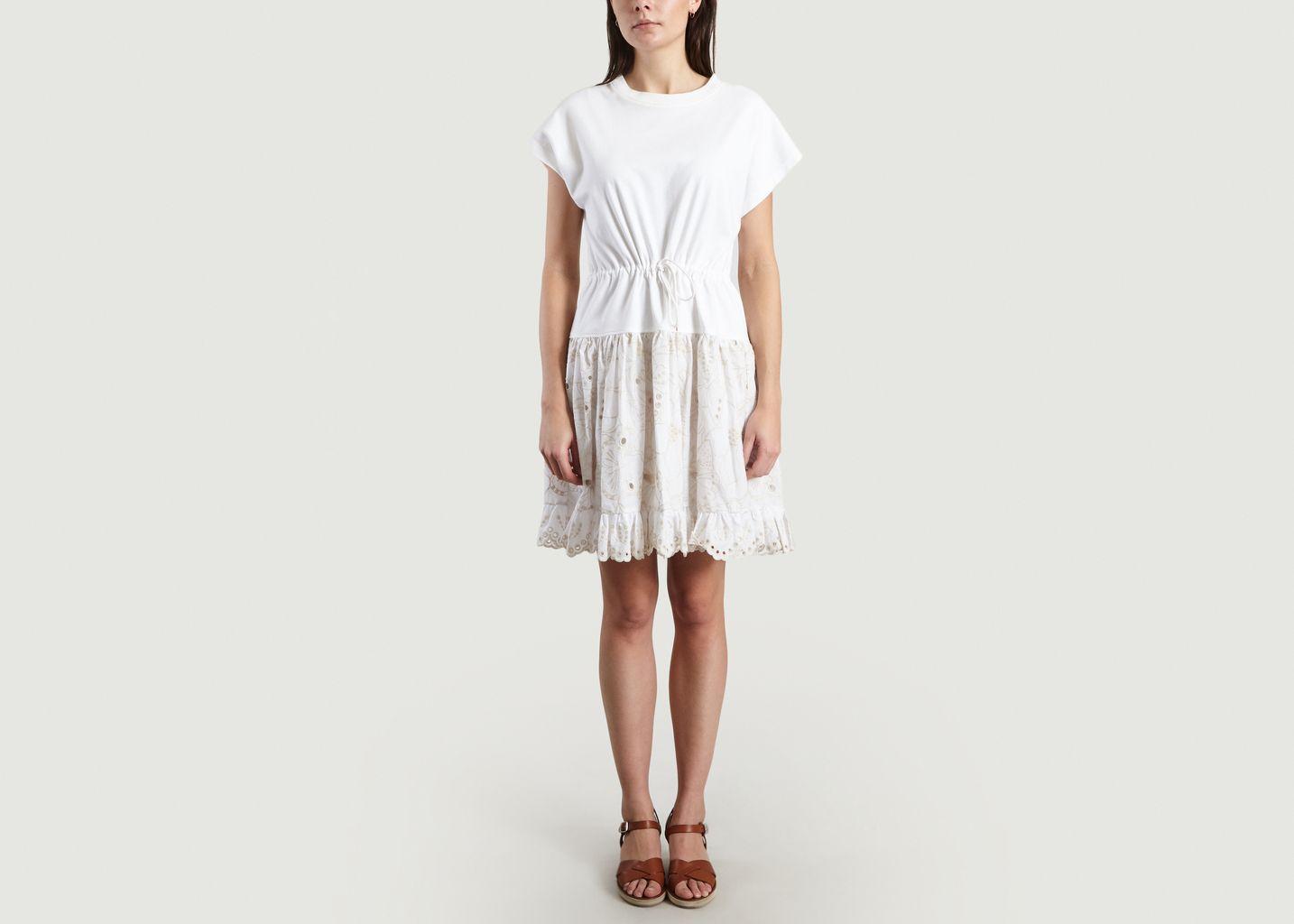 0f082a3fb6 Broderie Anglaise T-Shirt Dress