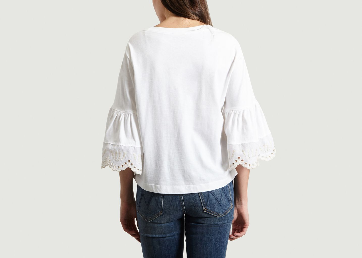 T-Shirt Manches 3/4 Avec Guipure - See by Chloé