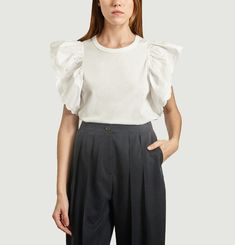 Ruffled Cap Top