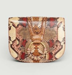 Hana Small Python Effect Leather Bag