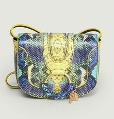 Hana Mini Python Effect Bag