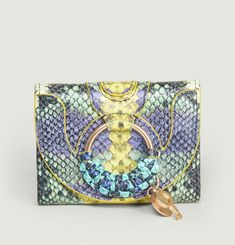 Hana Mini Python Effect Wallet