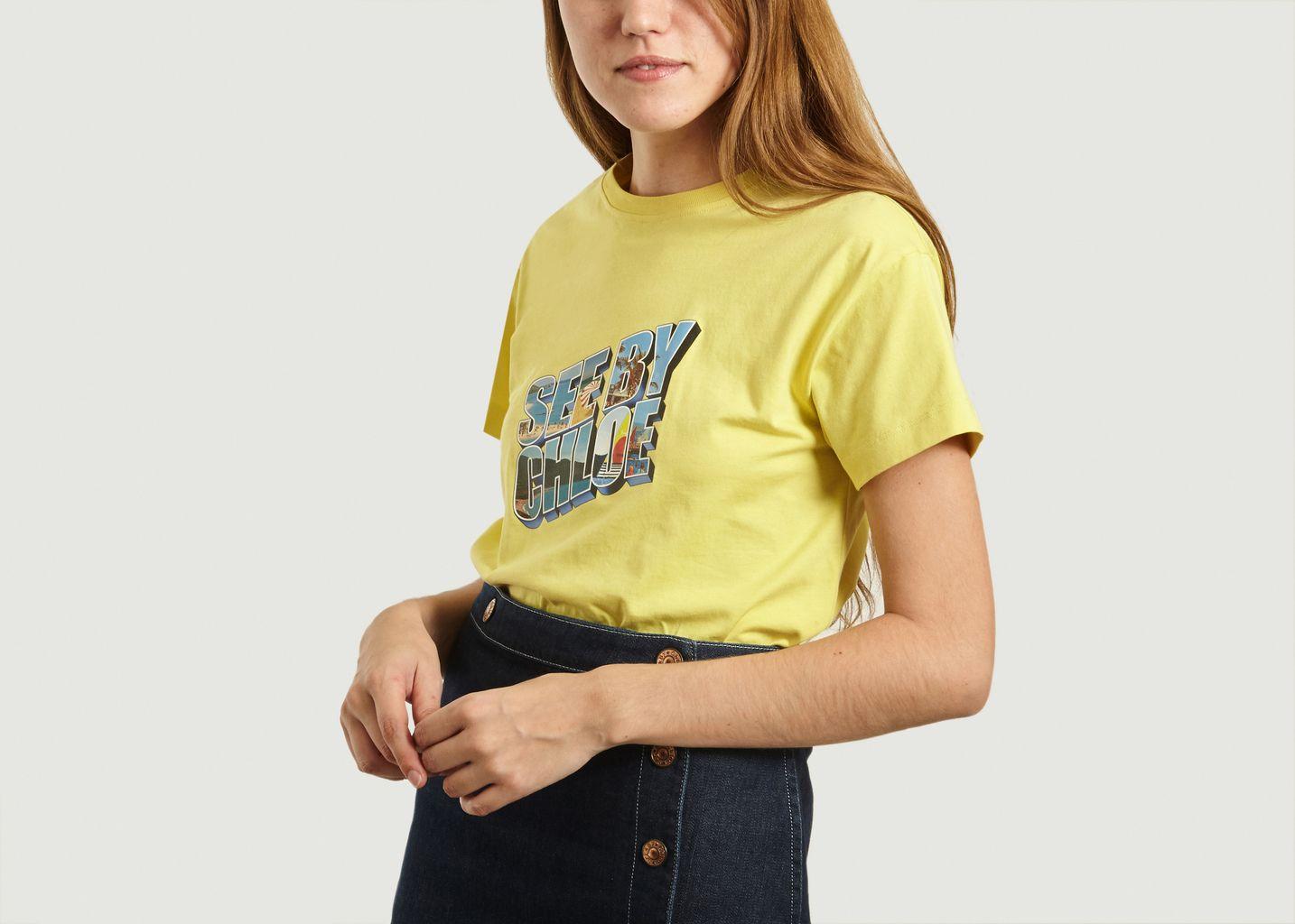 T-Shirt Logotypé En Coton - See by Chloé