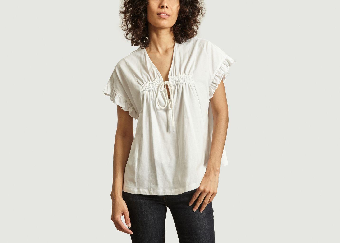 T-shirt drapé en jersey - See by Chloé