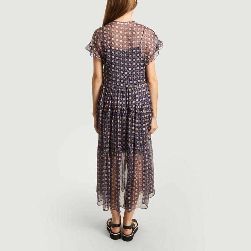 Robe Volantée En Soie Motif Fantaisie - See by Chloé