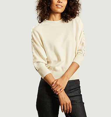 Guipure 3/4 sleeves sweater