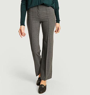 Pantalon à pinces taille haute