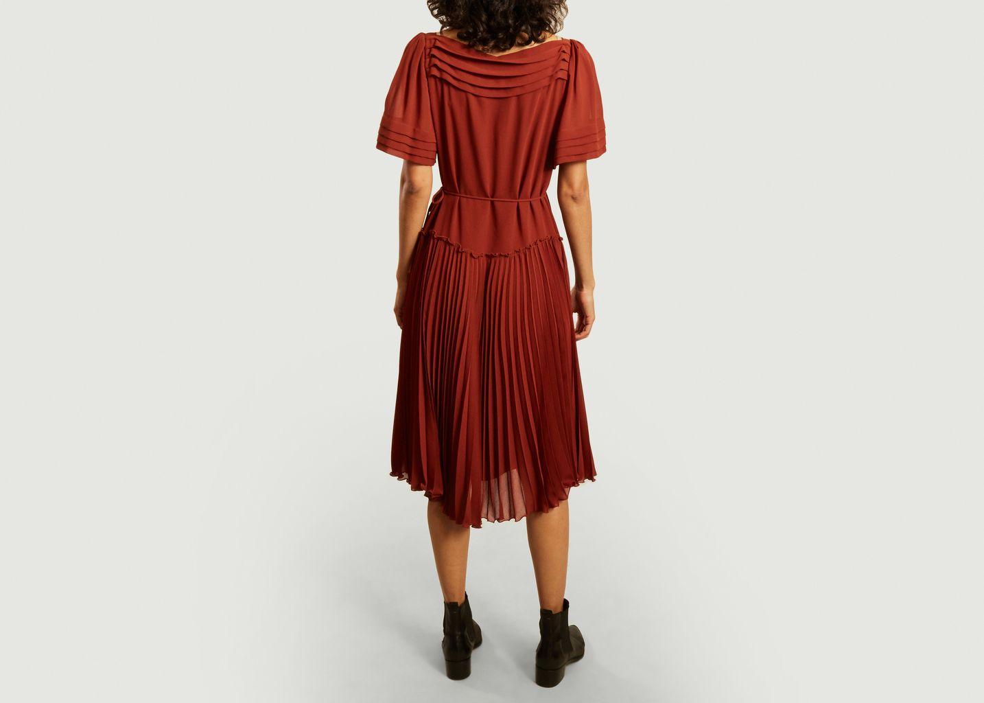 Robe midi plissée ceinturée - See by Chloé