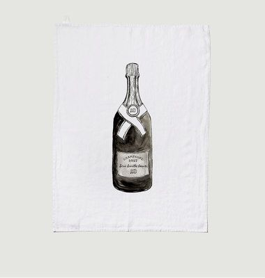 Torchon En Lin Lavé Champagne