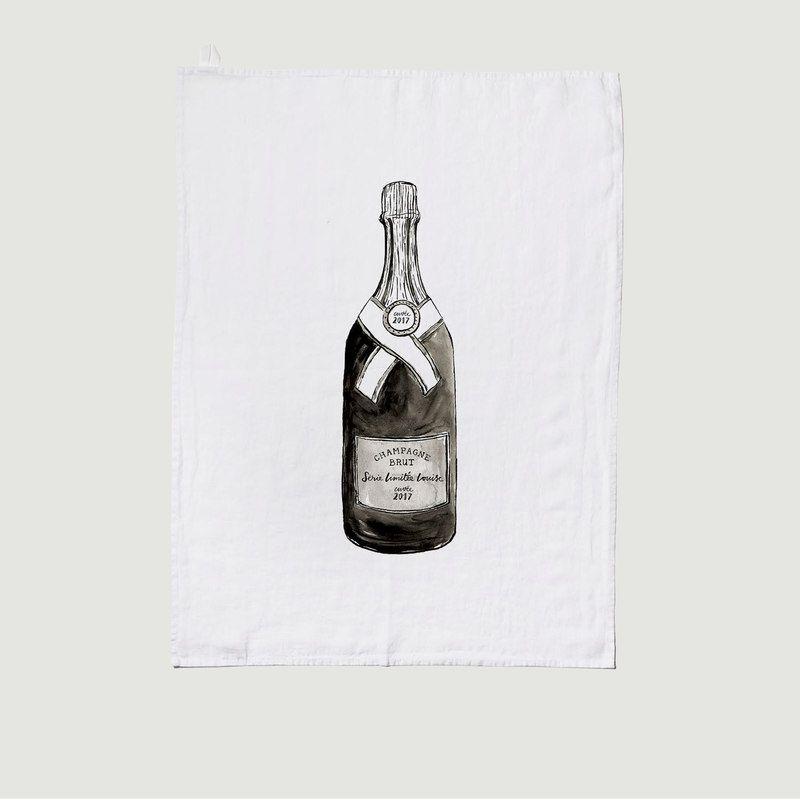 Torchon En Lin Lavé Champagne - Série Limitée LOUISE