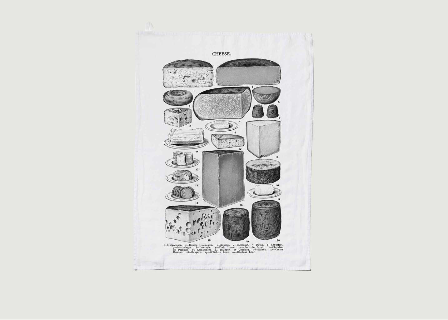 Torchon En Lin Lavé Les Fromages - Série Limitée LOUISE