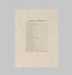 Marcel Tea Towel