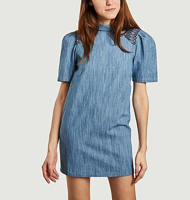 Dress with high collar Maia
