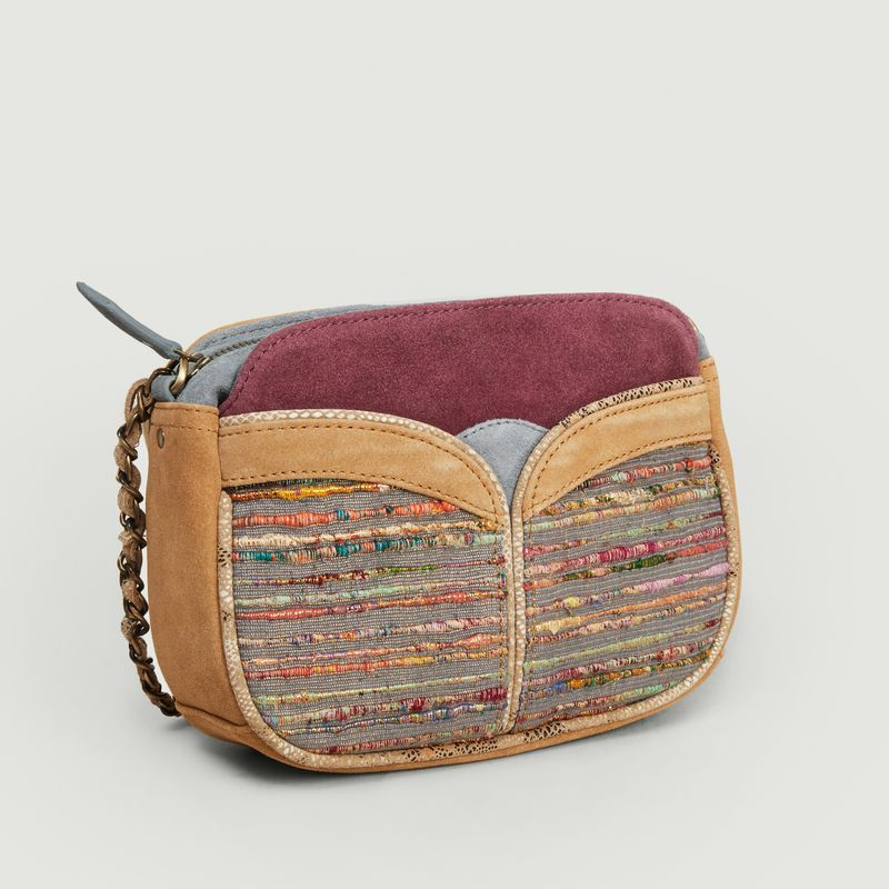 Sac en cuir et textile Divine Multi - Sessun