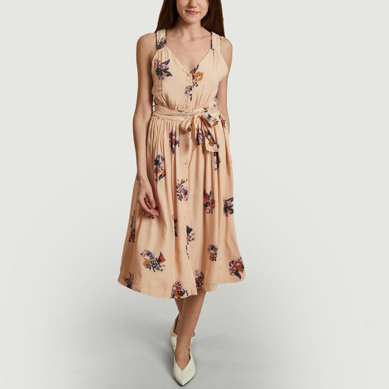 Robe mi-longue imprimé fleuri Maeght - Sessun