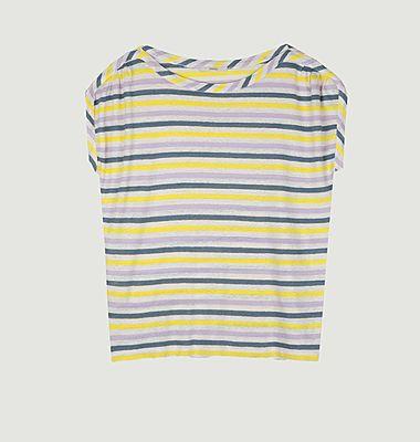 T-shirt rayé en lin Sixtolin