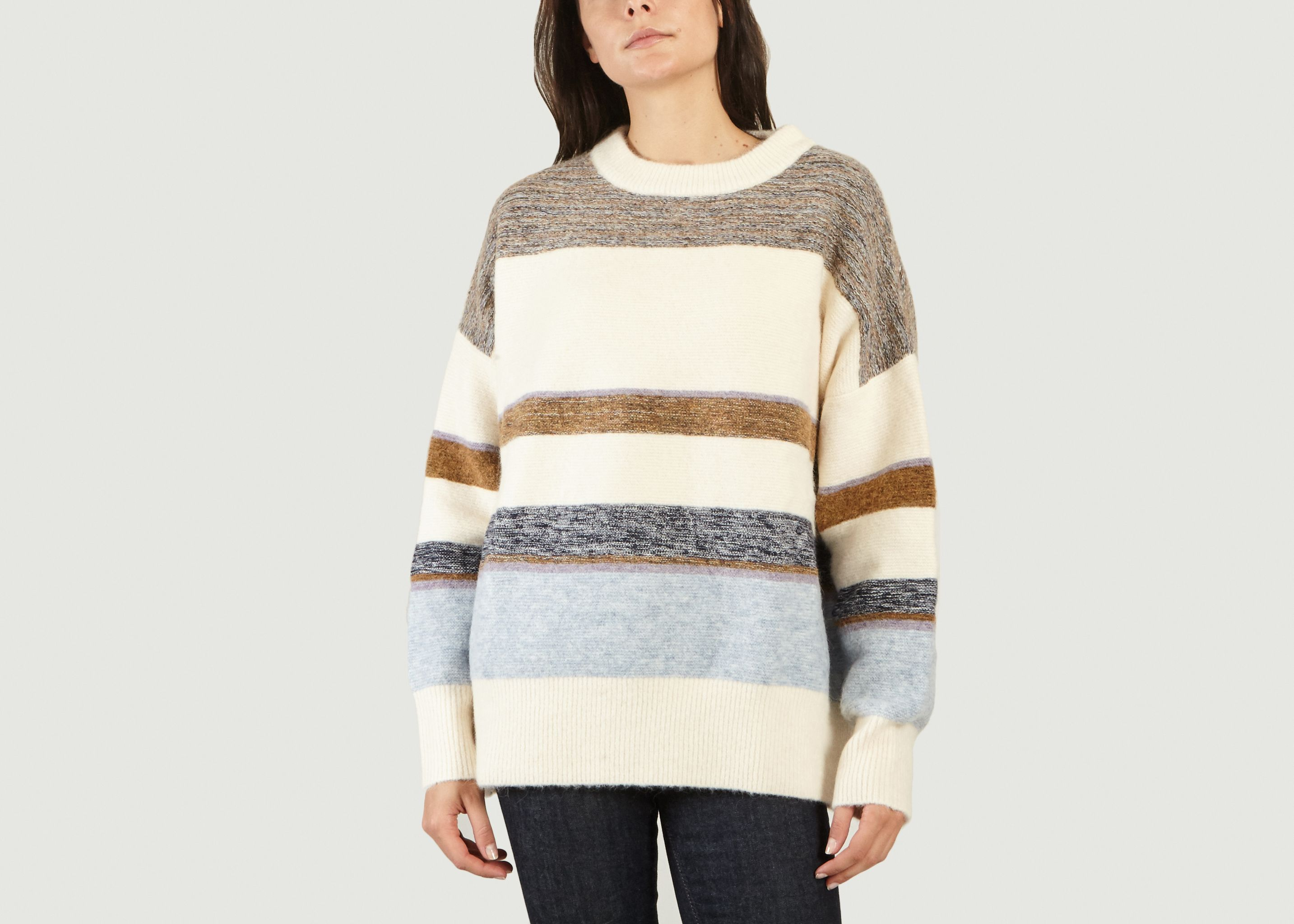 Graham Striped Jumper Off White Sessùn | L'Exception