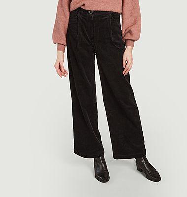 Pantalon Insta Hello velours large
