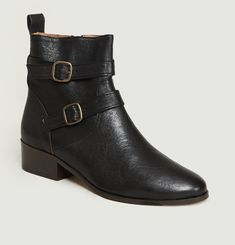 Bottines En Cuir Kan