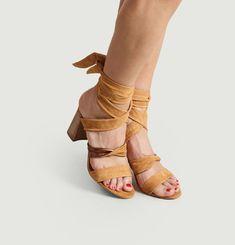 Sandales Nouées En Cuir Kimpa