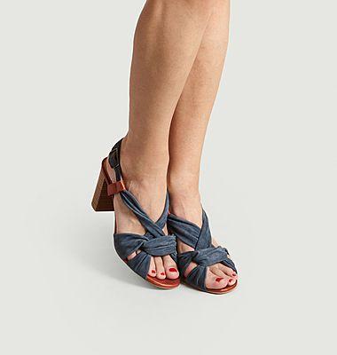 Sandales En Cuir A Talons Maab