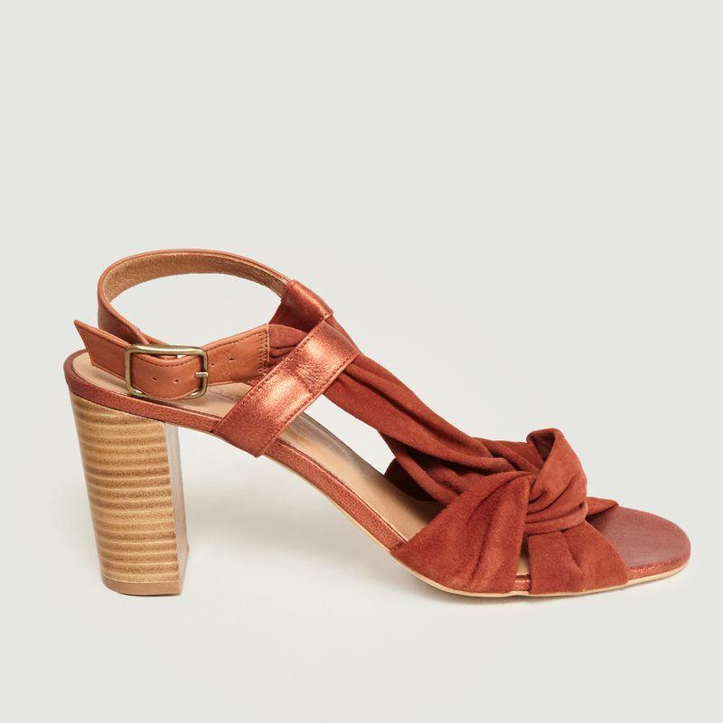 Sandales En Cuir A Talons Maab - Sessun
