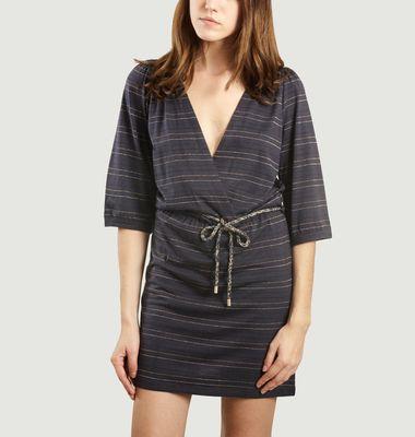 Marie Rosie Wrap Dress Night Stripes